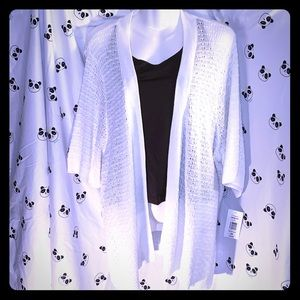White Sweater cardigan size 3X -New with tags